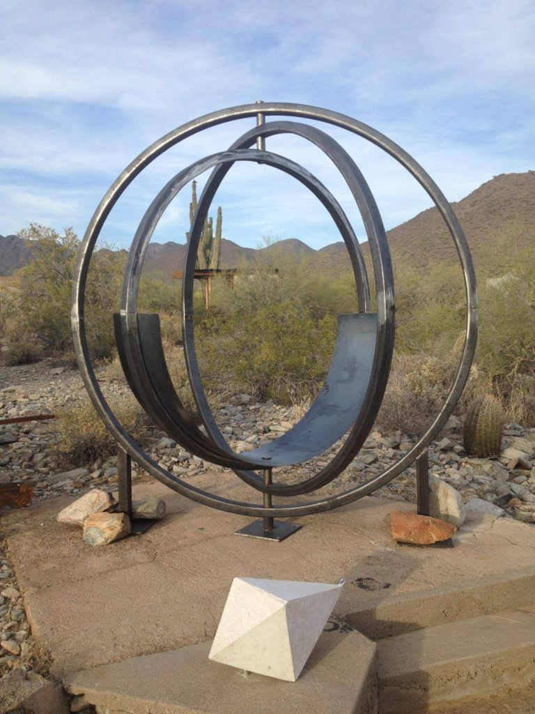 This is a seat that was made for an architect, and is being installed at Taliesin West. I have done a lot of work at Taliesin West over the last few years, most of it is not able to be seen by tourists, or parts of the inner structures. So it is nice to have an artistic piece that will now be seen on a tour.