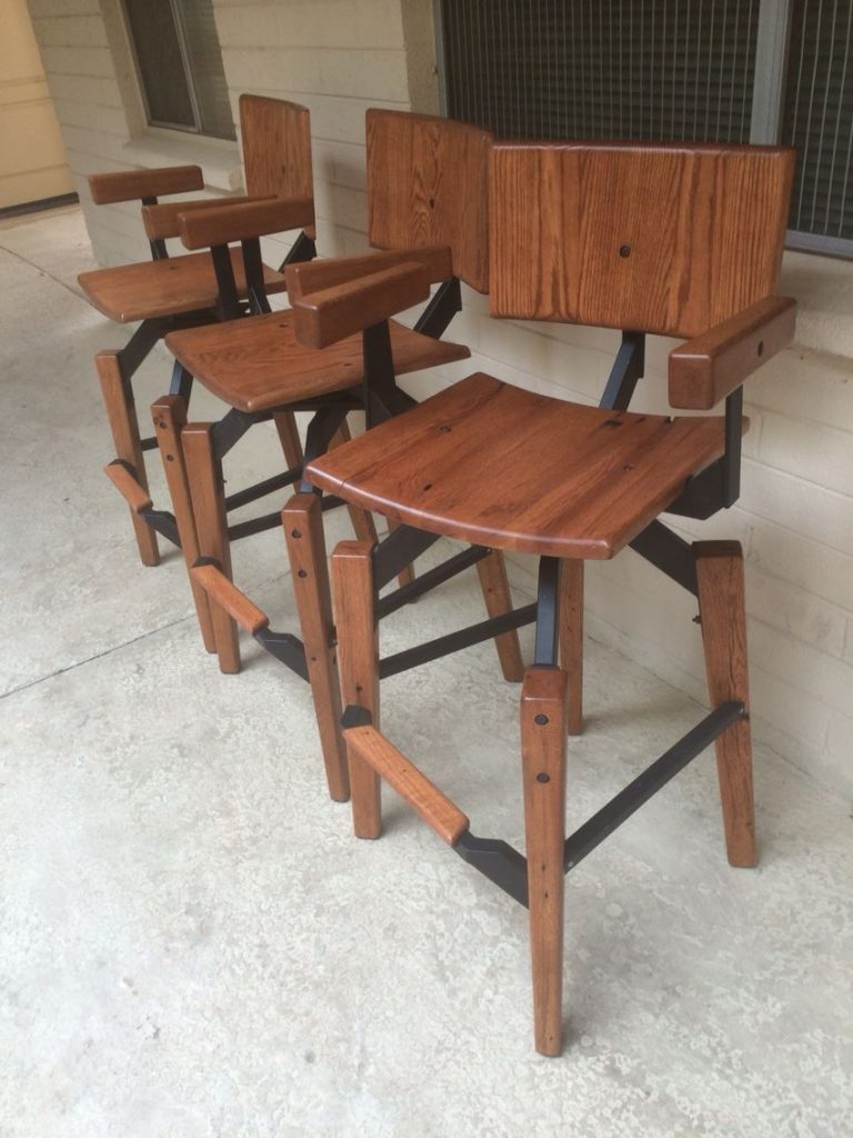 I created the steel binding structures for these custom chairs.
