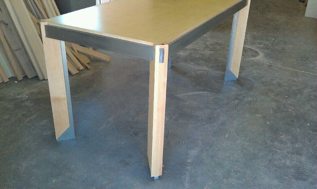 Custom steel fabrication for this table.